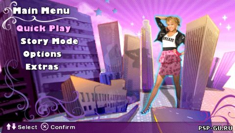 скриншоты к игре Hannah Montana: Rock Out the Show на psp